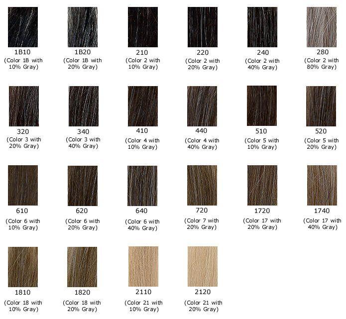 Gray Hair Color Shades Color Chart Of Gray Shades Hair