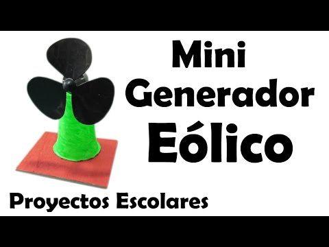 Proyectos Escolares | Mini Generador Eólico Casero (muy fácil de hacer) - https://www.youtube.com/watch?v=YrgJ3Dj_0LM