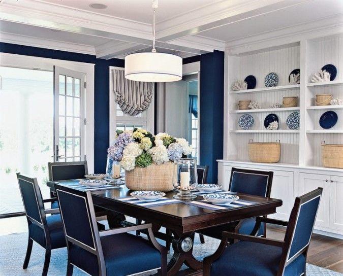 Blue Dining Room Walls, Blue Dining Room Chairs