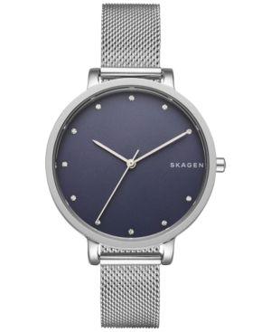 Skagen Women's Stainless Steel Mesh Bracelet Watch 34mm SKW2582 - Silver