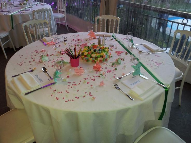 decoration table mariage origami