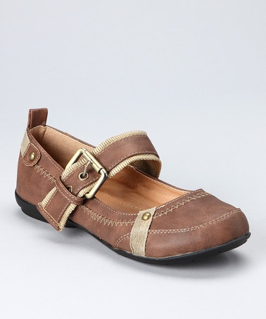 Take a look at this Camel Aya Two-Tone Mary Jane by Spring Soles: Women's Shoes on #zulily today!