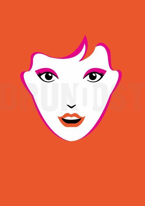 illustration   GIRLS   Ginger by Bruno Ost #brunoost