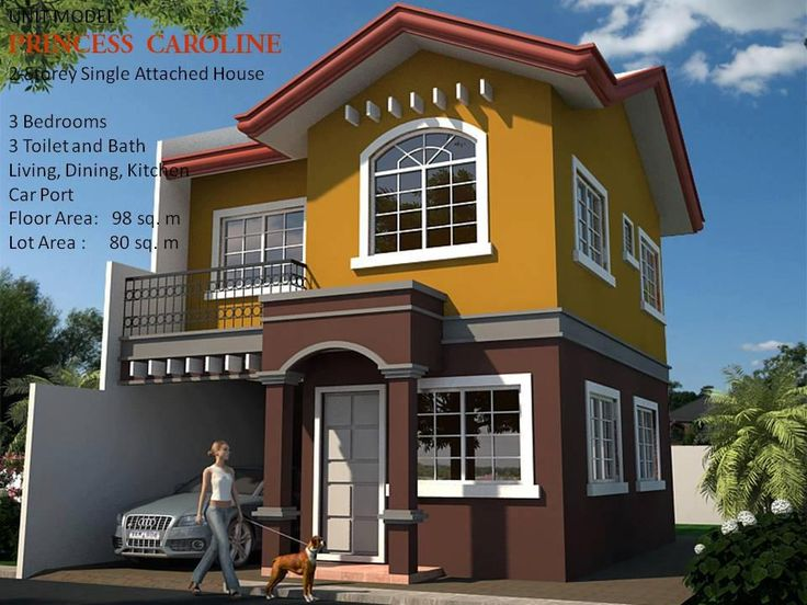 Attractive PRINCESS CAROLINE MODEL UNIT 2 Storey, Single Attached House 3 Bedrooms 3  Toilet And