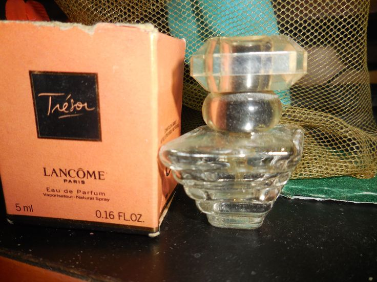Vintage Mini Tresor Perfume Bottle Lancome Made in France We Love Scents by aquabead on Etsy