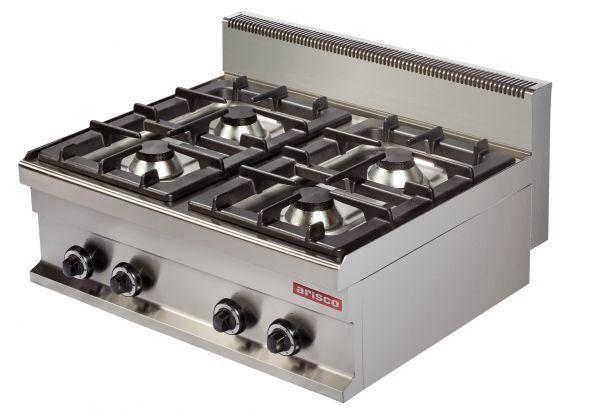 Cocina Sobremesa Gas 4 Fuegos