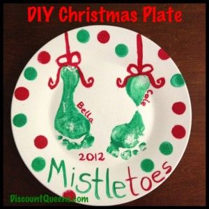 DIY Christmas plate or design one for any gift or holiday Need a fun Christmas Craft to do with the kids.  Why not make a Christmas Plate!  It is so easy…