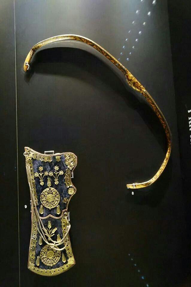 "Bow & Quiver (Islamic Arm; Ottoman Caliphate/Empire) (Topkapi Sarayi (""Palace""), Istanbul, Turkey) #Muslim #Turk #Weapon"