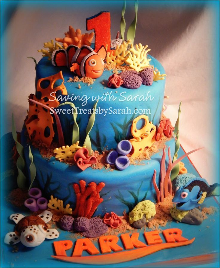 Best Finding Dory Cakes Images On Pinterest Finding Dory - Nemo fish birthday cake