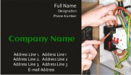 Electrician services visiting cards, electrician business cards, electrician services visiting cards design online, electrician visiting cards