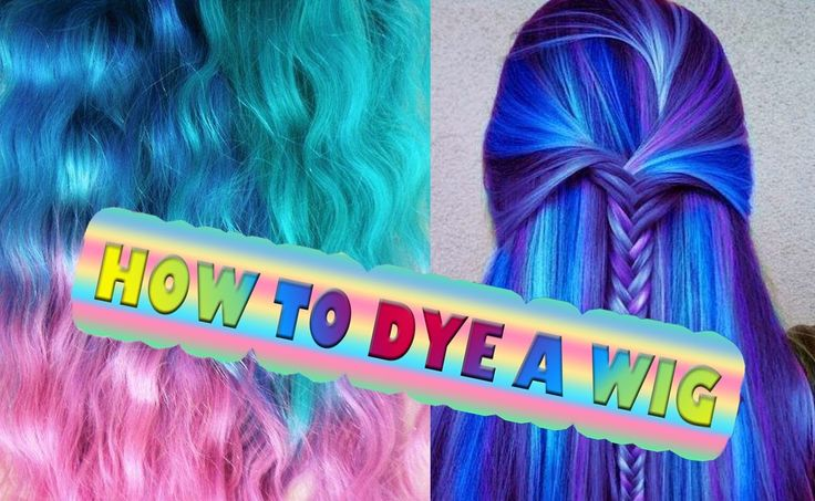 COLOR DYE Synthetic Hair HOW TO Tutorial Cosplay Hairdo Extension wig Ti...