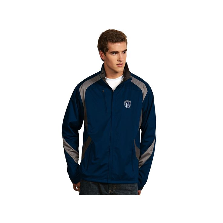 Men's Antigua Sporting Kansas City Tempest Desert Dry Xtra-Lite Performance Jacket, Size: XL, Med Blue
