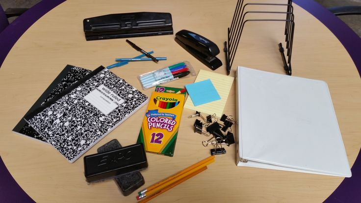 We have folders, notebooks, staplers, pens, clips, pencils and much more.