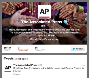 AP hacked Twitter account #twitter #security