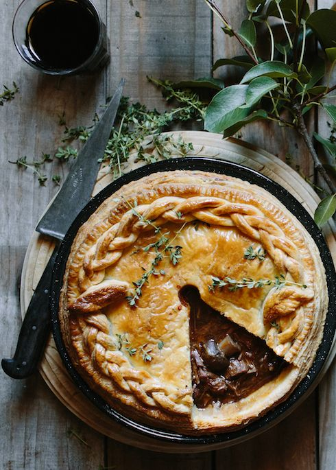 Beef & stout pie with sour cream & thyme pastry  |  The Food Fox