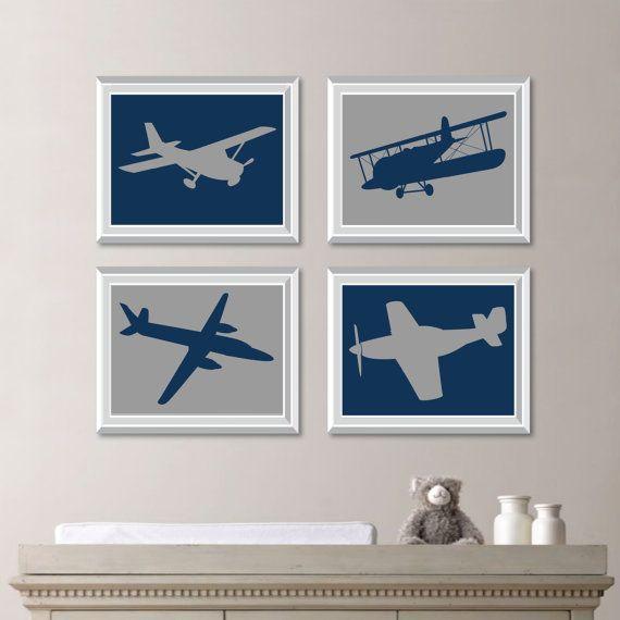 Baby Boy Nursery Art  Vintage Airplane Print Art  Airplane Art  Airplane  Decor  Aviation Art  Airplane Bedroom Art  Transportation  NS 708. 17 Best ideas about Boys Airplane Bedroom on Pinterest   Aviation