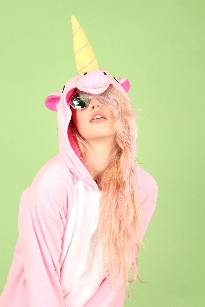 Premium Plush Pink Unicorn Onesie | Onesieful