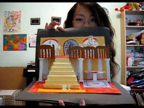 How to make a 3D pop-up card or book (re-upload) --this young girl gives a GREAT tutorial...easy for kids to understand