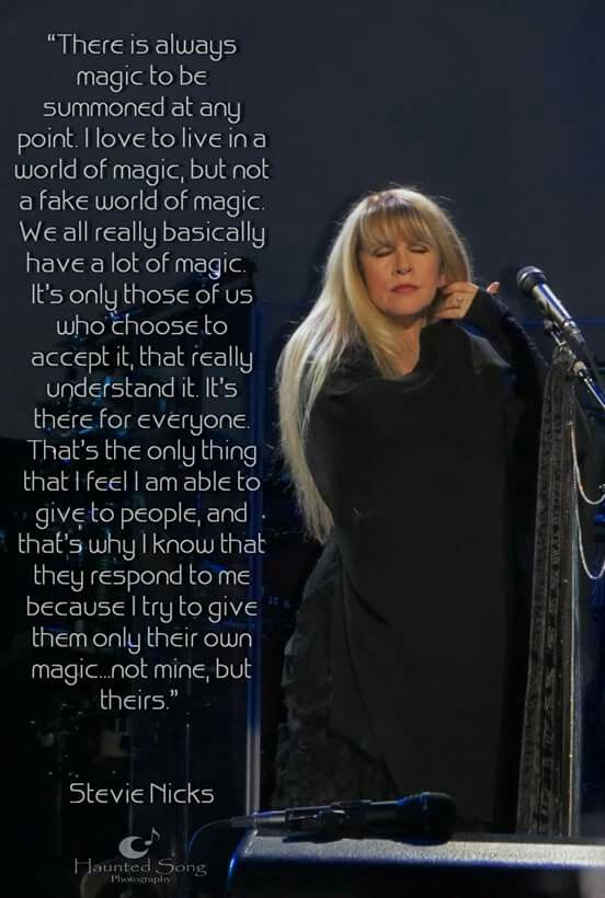 Stevie Nicks on magic.