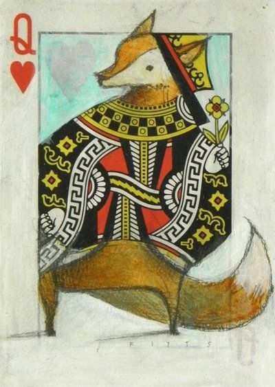 Fox queen of hearts by Seth Fitts