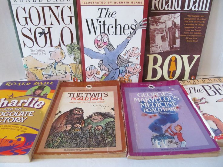 ROALD DAHL SET Of 7 Books - The Bfg, Boy, Going Solo, The Twits, George's Marvelous Meidicine, Charlie and Chocolate Factory, The Witches by CellarDeals on Etsy