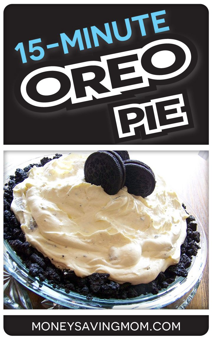 This 15-Minute Oreo Pie is one of the simplest recipes in existence and it is SO yummy! Make it for your next get-together and you will have everyone raving about it!