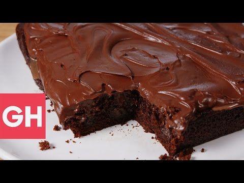 Best Nutella Mocha Poke Cake Recipe - Delish
