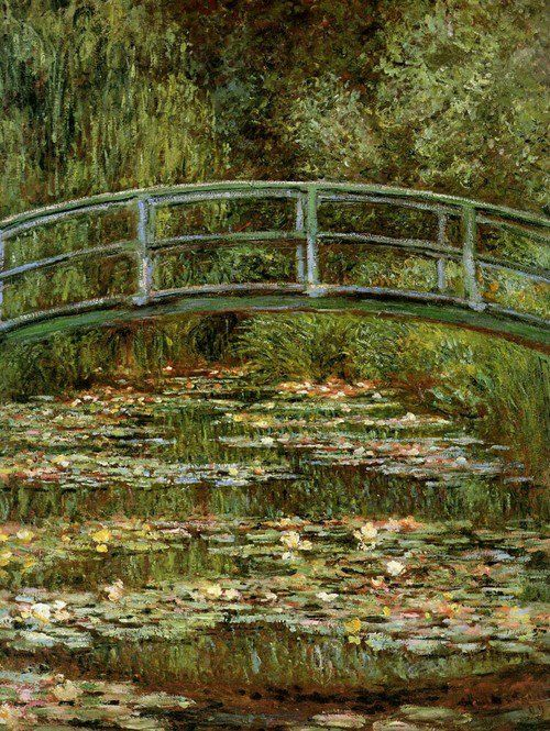 Claude Monet  Waterlilies Japanese bridge  Seen this today in National Gallery in London and loved it! ;)