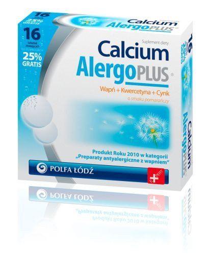 CALCIUM Alergo Plus x 16 tabl. sparkling Allergy Relief Sneezing Itchy Eyes hay fever rash remedy