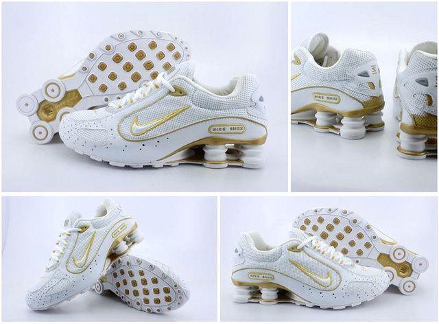 Nike Shox Monster Skor Vit Golden Man 94256 Billiga