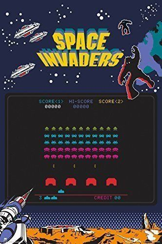 Space Invaders Poster Retro Vintage Computer Video Game Print Wall Art Large