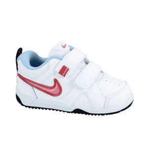 Zapatillas deportivas velcro Nike Lykin 11 blanco/rosa