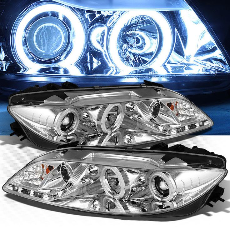 For 2003-2006 Mazda 6 Dual CCFL Halo DRL LED Projector Headlights+Fog Lamp Pair