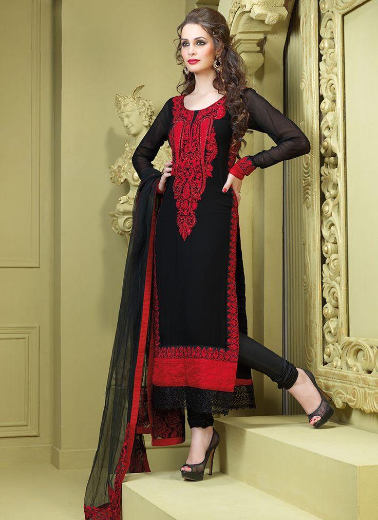 Black Georgette Pakistani Suit