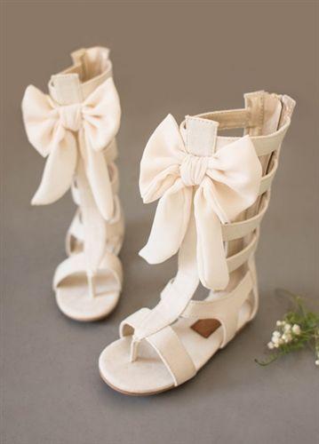 Joyfolie - Alexa Gladiator Bow Boots in Gardenia