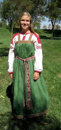 Young girl's outfit, Kursk region, Plekhovo village, 1910s-1940s.