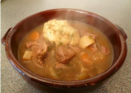 Victorian Beef Stew and Dumplings. Lots of recipes on this site from different periods in history.