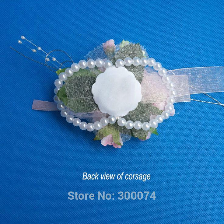 Bruiloft bloem pols corsage kunstmatige thee rose decoratieve bloemen prom & dancing party voor vrouwen & meisje decor levert casamento