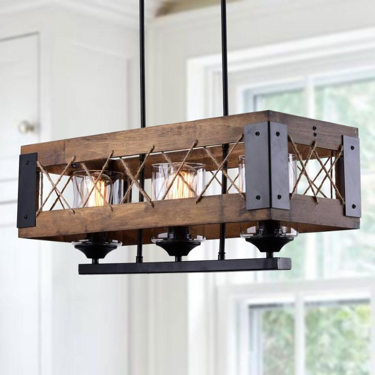 Lnc Island Lights Rustic Wood Painted