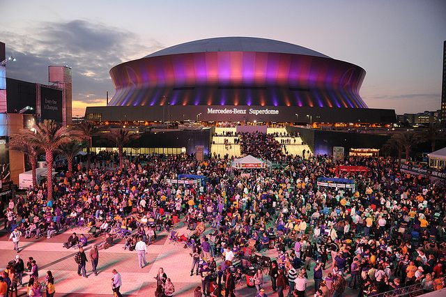 The Mercedes Benz Superdome in New Orleans!