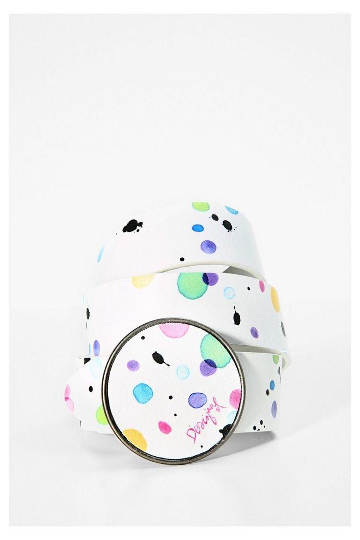 Cintura bianca con colori - Chapon Splatter | Desigual.com 1000