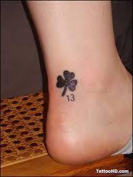 clover number 13 tattoo - Google pretraživanje