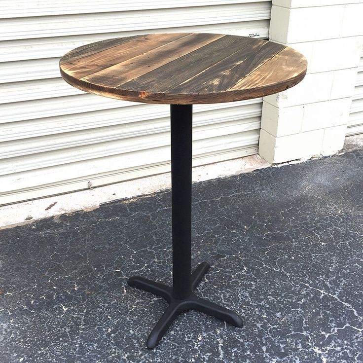 FREE SHIPPING - Reclaimed Wood Round Bar Table - Pub - Patio - Cafe - Dining by SibusFurnitureDecor on Etsy https://www.etsy.com/listing/230491312/free-shipping-reclaimed-wood-round-bar