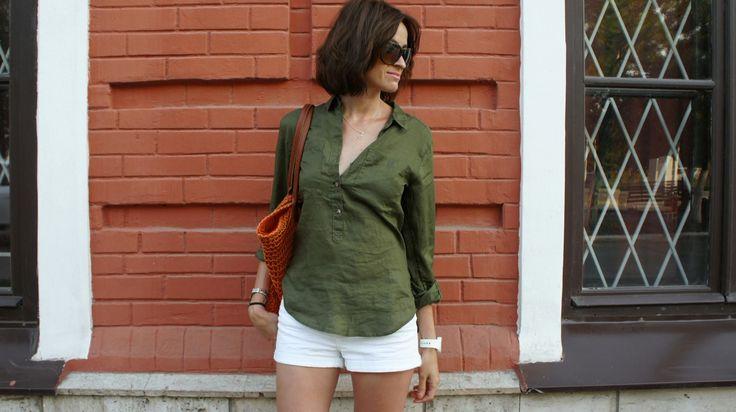 Рубашка цвета хаки