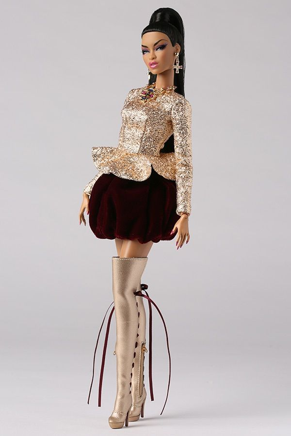 """Integrity Gold Basic Doll Stand for 12/"""" Dolls NEW Fashion Royalty"""