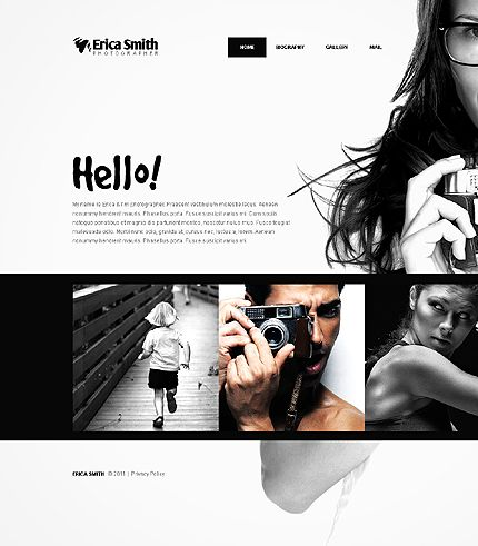 website template for photographers