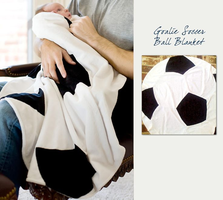 Northwest Gifts - Soccer Baby Blanket, $49.95 (http://northwestgifts.com/products/Soccer-Baby-Blanket.html)