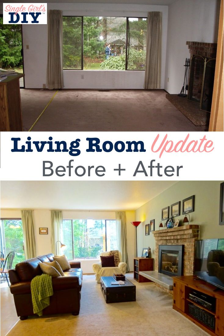 Living Room Update Before After Living Room Update Rooms