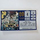 BYU at Notre Dame 1994 Football Ticket Stub - 1994, Dame, FOOTBALL, Notre, STUB, ticket