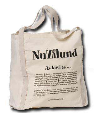 nz made kiwiana fabric tote bag